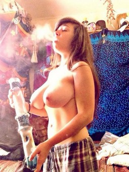 When she's not crusading for pot legalization, this big-titted chick spends her time..