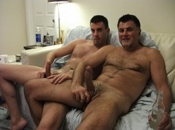 What I most like to do with my dad is jerk off together was the best thing he taught me,..