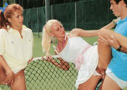 Looks like the girls wanted a different kind of tennis lesson this morning. Wait till..