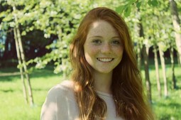 Stunning redhead teen with freckles