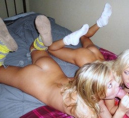 Hot head photo with a sexy blonde teens, homemade oral porn