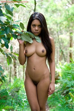 Kiki Tiny Dark Skinned Babe with Pert Full Breasts.