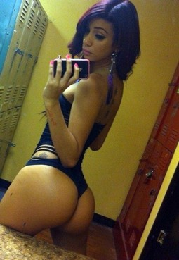 Hot latina selfshot her huge sexy ass in perverse thong